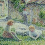 カミーユ・ピサロ「エンドウの摘み取り」がフランスへ返還。作品の解説と所感。