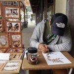藤原英樹【コーヒーアート】の作品、価格、場所を紹介!写実絵画のトラやワシの凄い迫力!